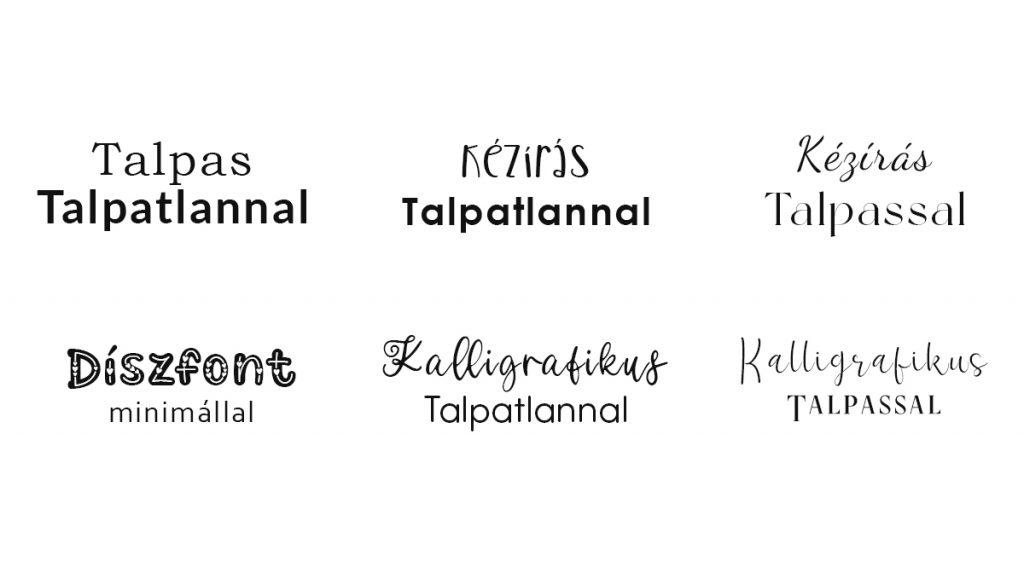 betűtípusok